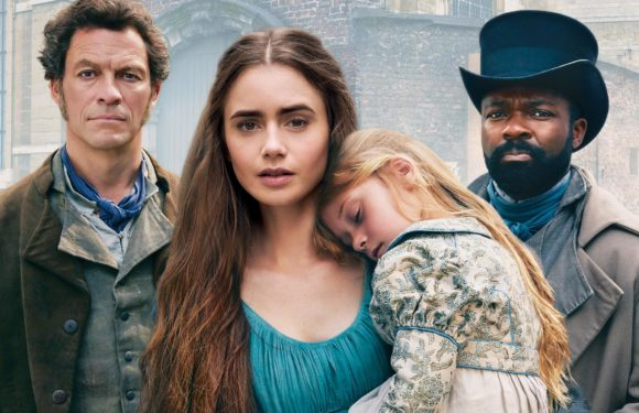 Les Misérables starring 	Dominic West, David Oyelowo, Lily Collins