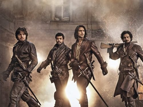 The Musketeers (2014) starring Luke Pasqualino, Tom Burke, Santiago Cabrera