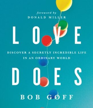Love Does, Nonfiction Theological Studies, Bob Goff